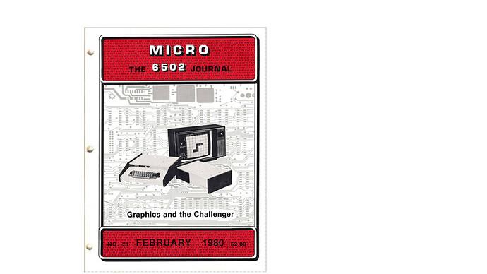 Cover of MICRO Magazine
