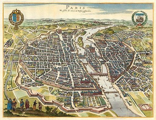 Caspar Merian, Paris wie solche Ao. 1620 im wessen gestanden, 1655 - David Rumsey