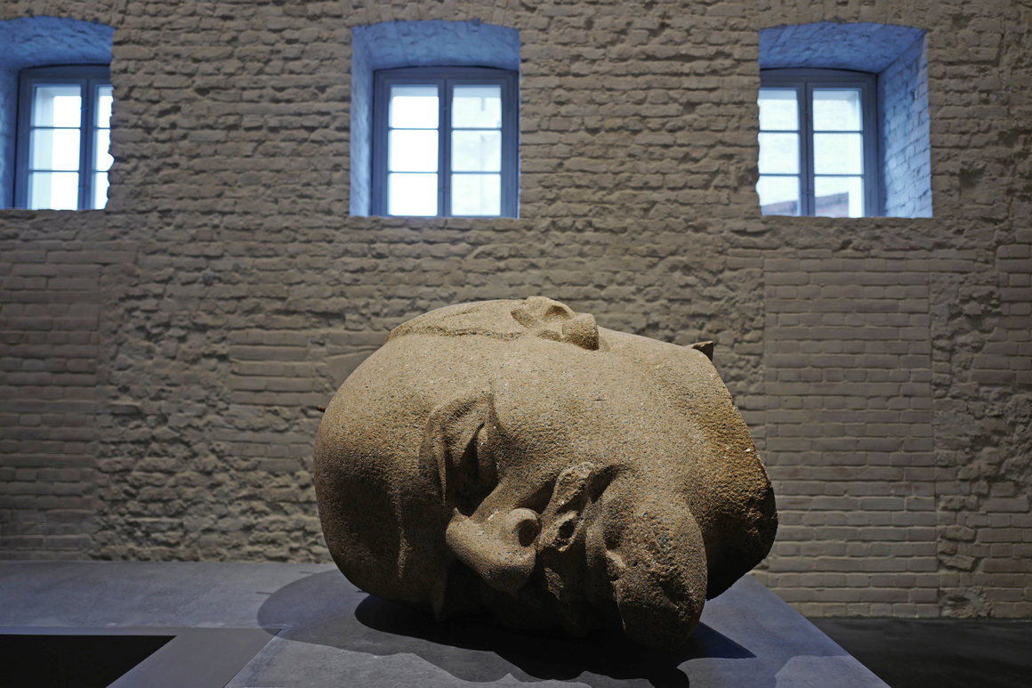 One of the objects in the museum is the head of a 60-foot-tall statue of Vladimir Lenin.