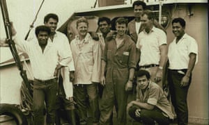 Mr Peter Warner, third from left, with his crew in 1968, including the survivors from 'Ata.